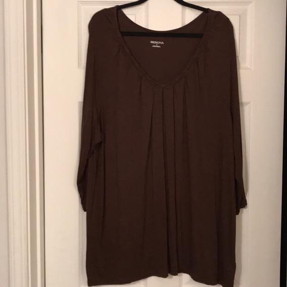 Merona Tops - Merona brown v neck tunic! Very stretchy!